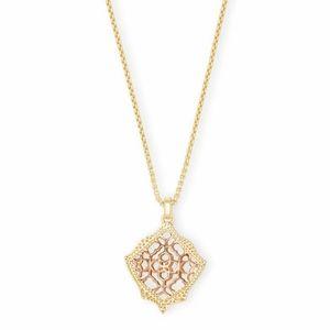NEW Kendra Scott Kasey Rose Gold Pendant Necklace